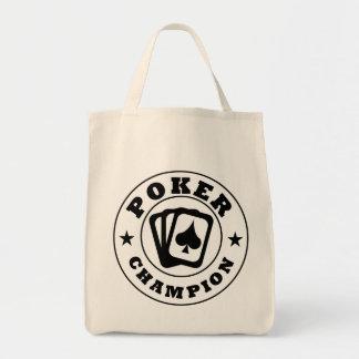 Poker Champion Tote Bags
