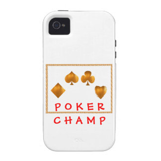 POKER Champion Giveaway Gifts Case-Mate iPhone 4 Cases