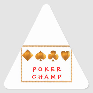 POKER Champion : Giveaway Gifts Triangle Sticker