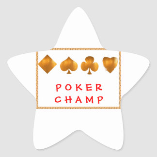 POKER Champion : Giveaway Gifts Star Stickers