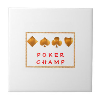 POKER Champion : Giveaway Gifts Ceramic Tile