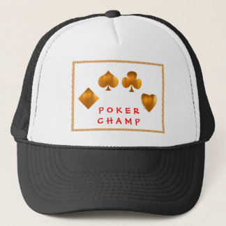 POKER Champion : Giveaway Gifts Trucker Hat