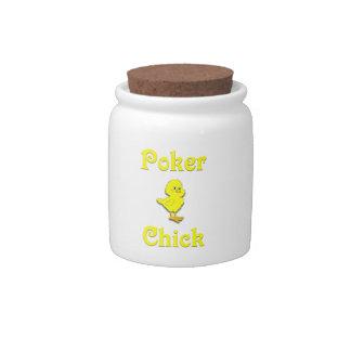 Poker Chick Candy Jar