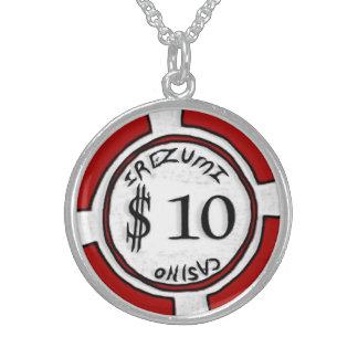 poker chip 10 necklace