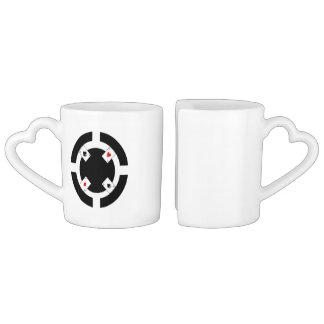 Poker Chip - Black Coffee Mug Set