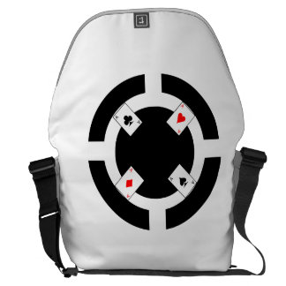 Poker Chip - Black Messenger Bag