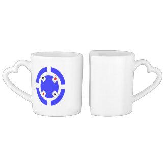 Poker Chip - Blue Coffee Mug Set