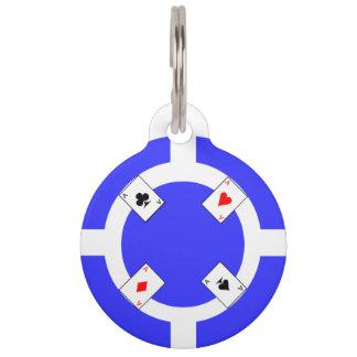 Poker Chip - Blue Pet ID Tag