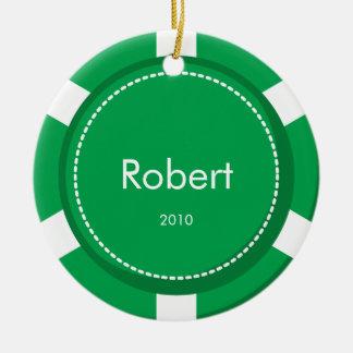 Poker Chip Christmas Ornament