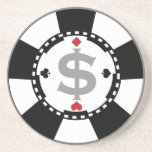 "Poker Chip Coaster<br><div class=""desc"">Classic looking poker chip with money symbol.</div>"