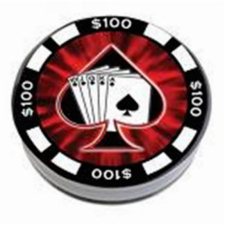 POKER CHIP CUT OUT