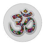 Poker_chip del símbolo de la yoga de Aum Namaste d Fichas De Póquer