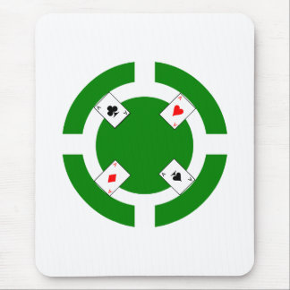 Poker Chip - Green Mouse Pad