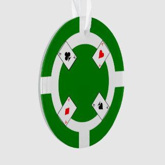 Poker Chip - Green Ornament