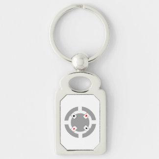 Poker Chip - Grey Keychain