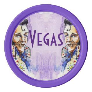 Poker Chip Lucky Double Vegas Flip Chip Poker Chip Set at Zazzle