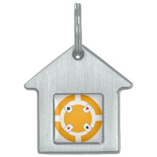 Poker Chip - Orange Pet ID Tag