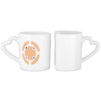 Poker Chip - Peach Coffee Mug Set
