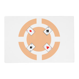 Poker Chip - Peach Placemat