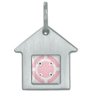 Poker Chip - Pink Pet ID Tag