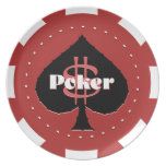 Poker Chip Plate