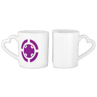 Poker Chip - Purple Coffee Mug Set