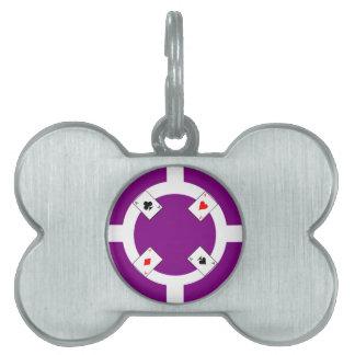Poker Chip - Purple Pet ID Tag