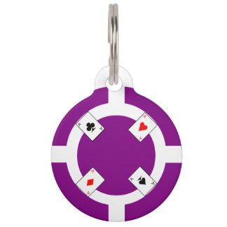 Poker Chip - Purple Pet Tag