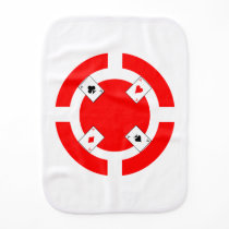 Poker Chip - Red Baby Burp Cloth