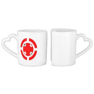 Poker Chip - Red Coffee Mug Set