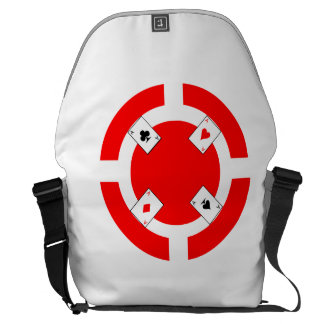 Poker Chip - Red Courier Bag