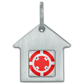Poker Chip - Red Pet ID Tag