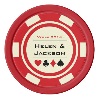 Poker Chip Red & White Poker Chips Set