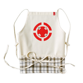 Poker Chip - Red Zazzle HEART Apron