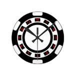 Poker Chip Wall Clock