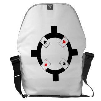 Poker Chip - White Courier Bag