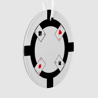 Poker Chip - White Ornament