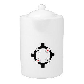 Poker Chip - White Teapot