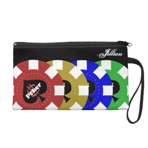 Poker Chip Wristlet Bag