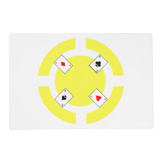 Poker Chip - Yellow Placemat