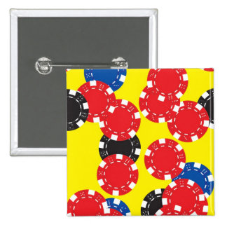 Poker Chips 2 Inch Square Button