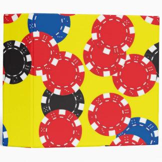 Poker Chips 3 Ring Binders
