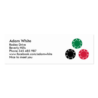 Poker chips business cards