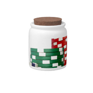 Poker Chips Candy Jars