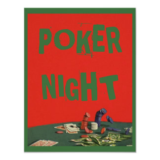 Poker Chips Card Game Party Themed Invitation
