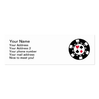 Poker chips casino business card
