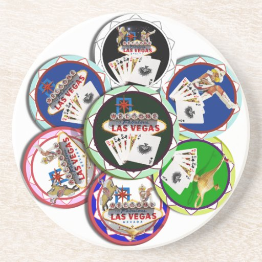 Poker Chips Galore Drink Coaster