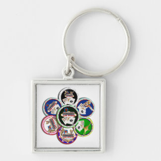 Poker Chips Galore Keychains