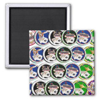 Poker Chips Galore Magnet