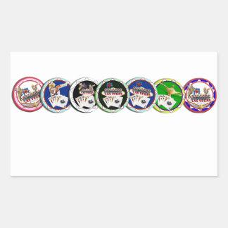 Poker Chips Galore Rectangular Sticker
